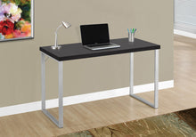 "Load image into Gallery viewer, Candace & Basil Computer Desk - 48""L / Cappuccino / Silver Metal"