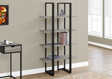 "Load image into Gallery viewer, Candace & Basil Bookcase - 60""H / Dark Taupe / Black Metal"