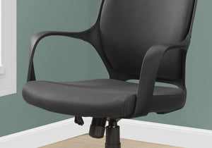 Office Chair - Black Microfiber / High Back E x ecutive