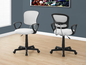 Candace & Basil Office Chair - White Mesh Juvenile / Multi-Position