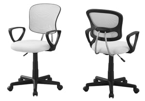 Office Chair - White Mesh Youth / Multi-Position