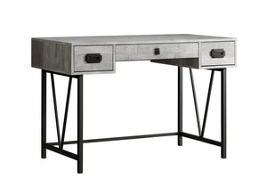 "Computer Desk - 48""L / Grey Wood Grain / Black Metal"