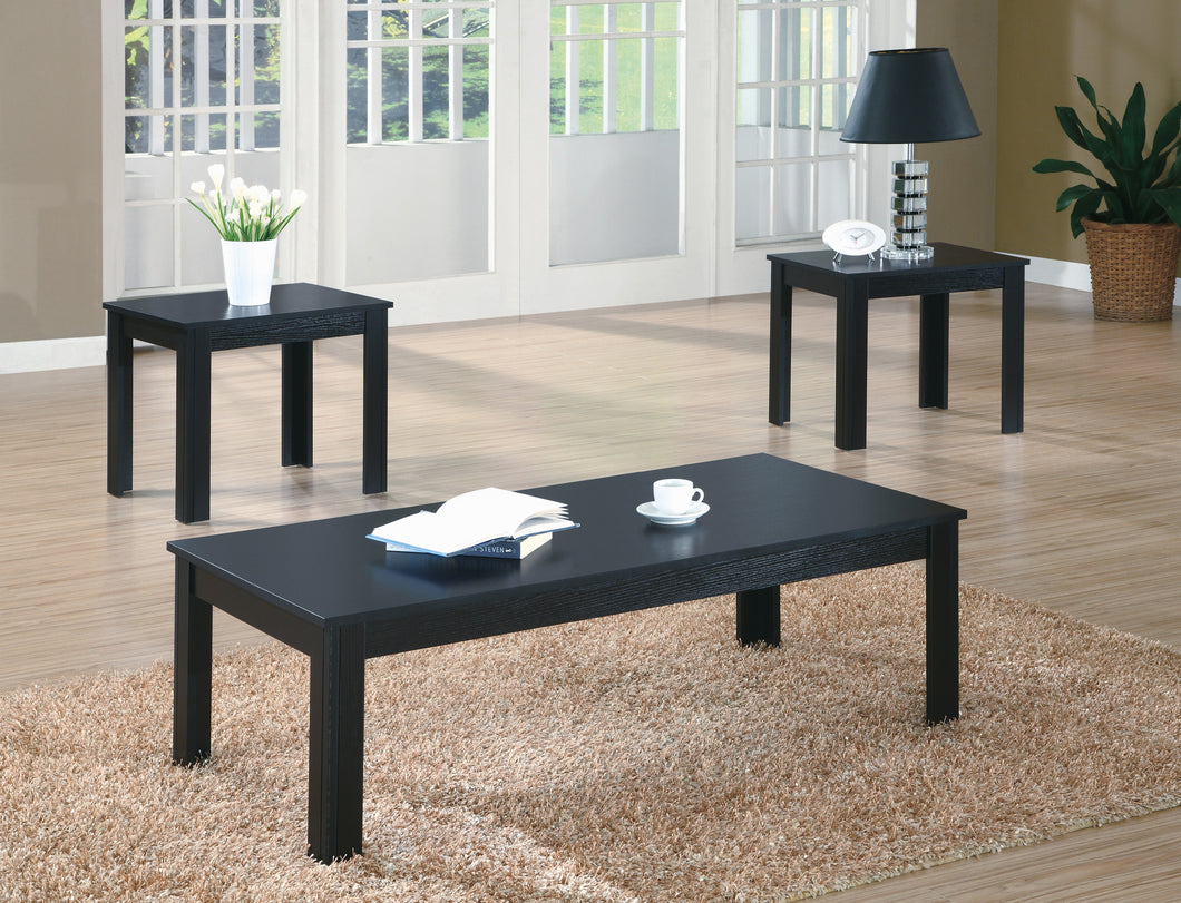 Candace & Basil Coffee Table Set - 3PC Set / Black