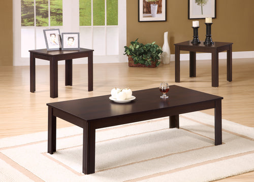 Candace & Basil Coffee Table Set - 3PC Set / Cappuccino