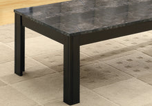 Load image into Gallery viewer, Table Set - 3Pcs Set / Black / Grey Marble-Look Top