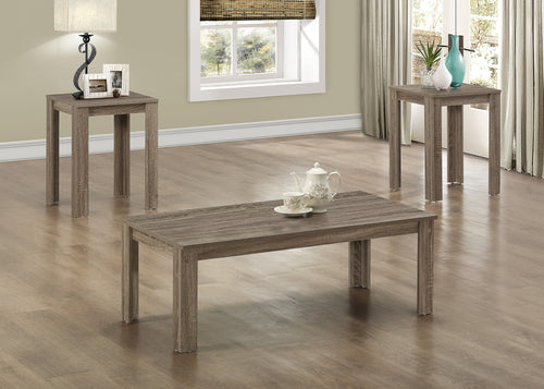 Candace & Basil Coffee Table Set - 3PC Set / Dark Taupe
