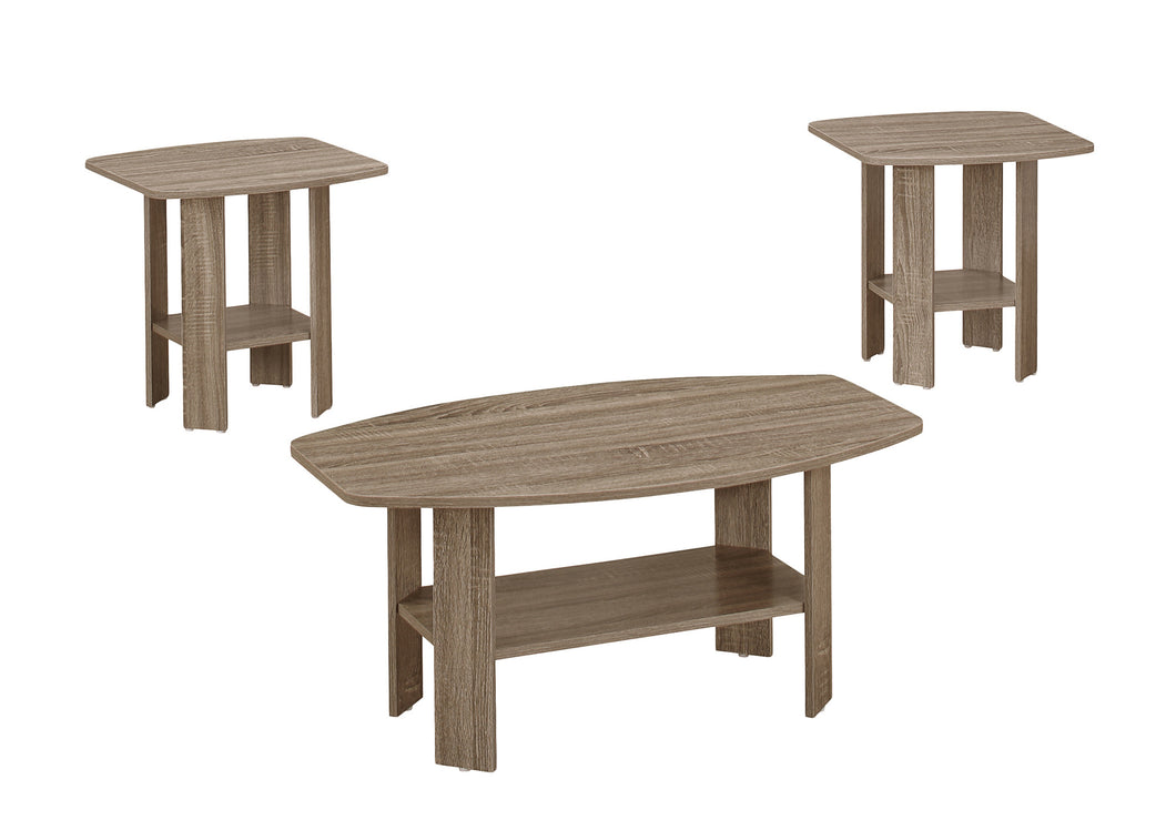 Table Set - 3PC Set / Dark Taupe