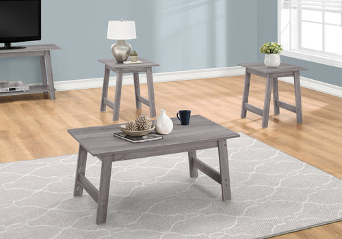 Candace & Basil Coffee Table Set - 3pc Set / Grey