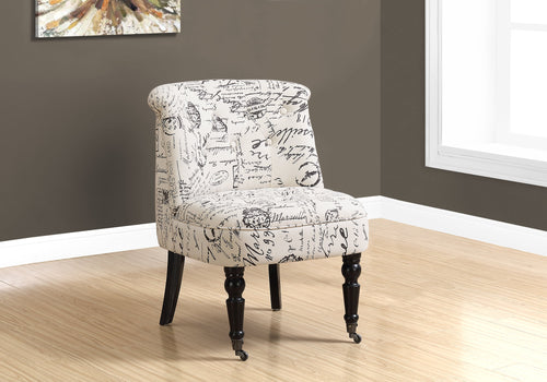 Candace & Basil Accent Chair - Traditional Style Vintage French Fabric
