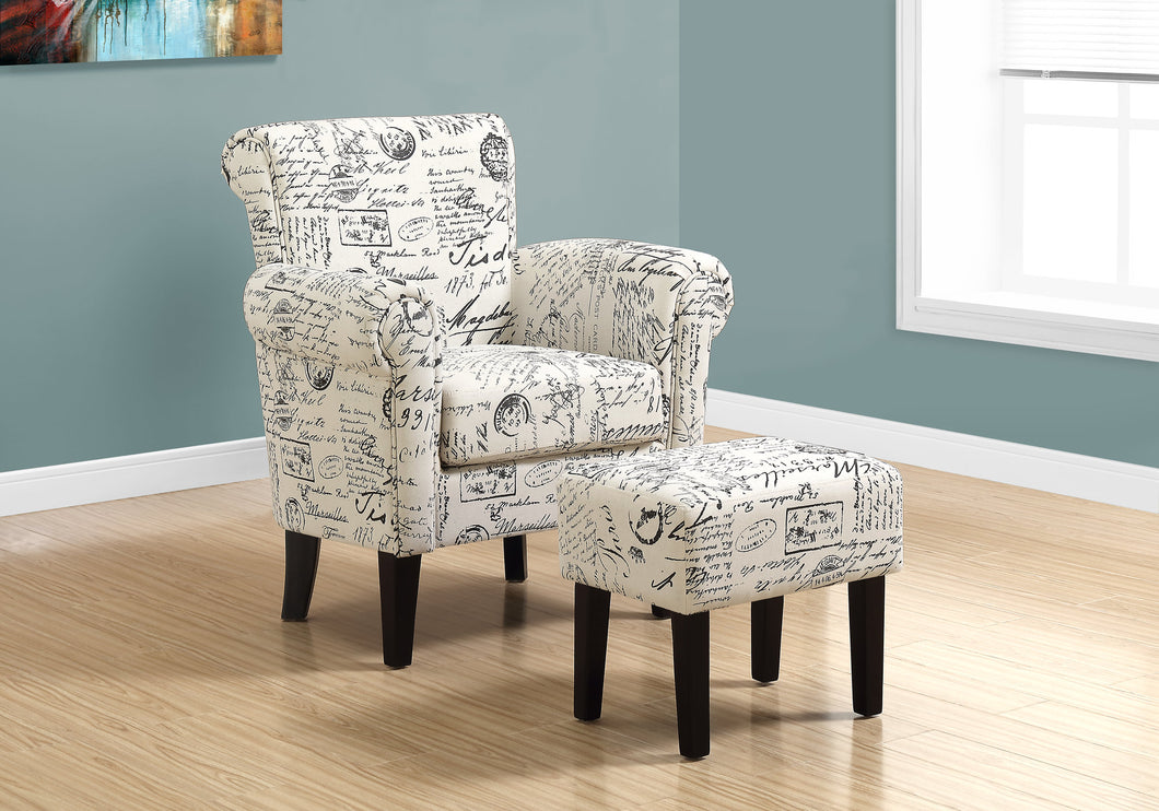 Candace & Basil Accent Chair - 2pc Set / Vintage French Fabric