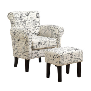 Accent Chair - 2pc Set / Vintage French Fabric