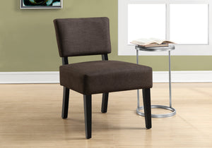Accent Chair - Dark Brown Fabric