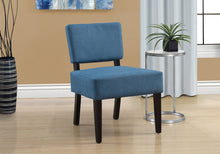 Load image into Gallery viewer, Accent Chair - Blue Fabric