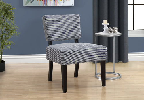 Accent Chair - Light / Dark Blue Abstract Dot Fabric