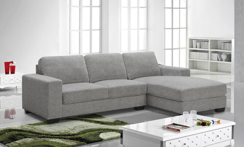 Ossington RHF Sectional - Grey | Candace and Basil Furniture