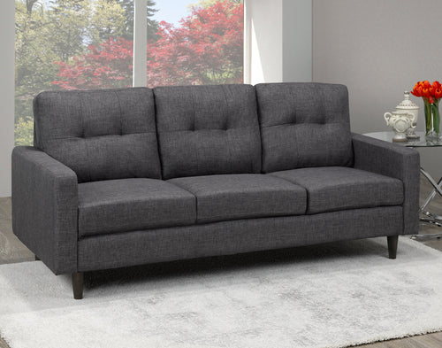 Anton Tufted Sofa - Grey