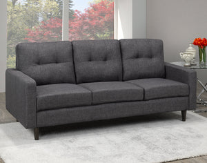 Anton Tufted Sofa - Grey | Candace and Basil Furniture