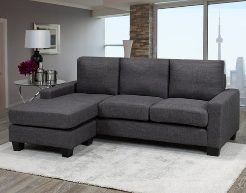 Anton LHF/RHF Sectional - Grey | Candace and Basil Furniture