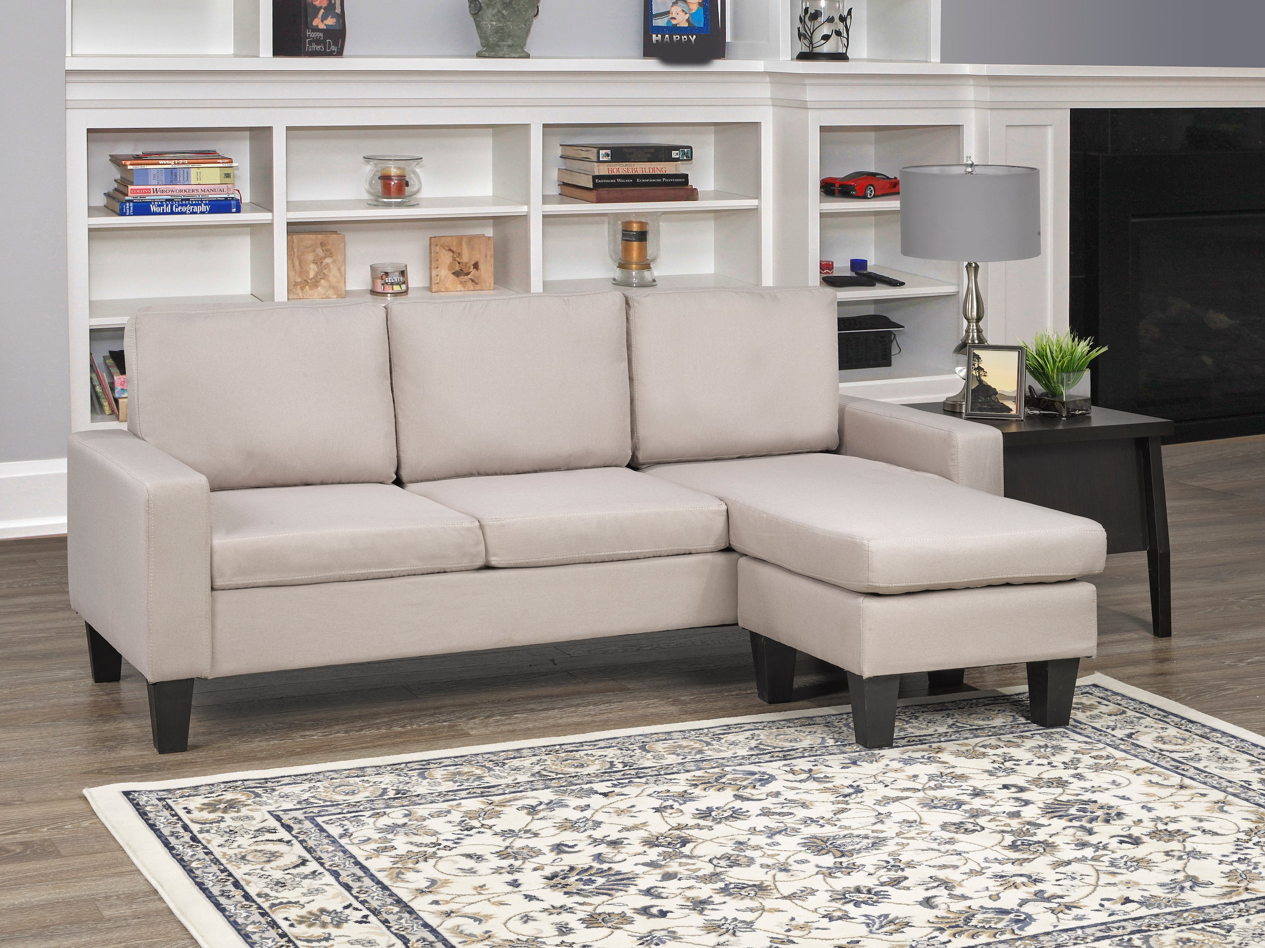 Anton LHF/RHF Sectional - Beige | Candace and Basil Furniture