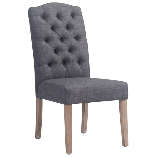 Candace & Basil Furniture |  Side Chair - Grey (Set Of 2)