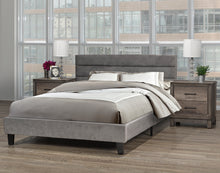 Load image into Gallery viewer, Cunningham Platform Double/Full Bed - Grey Velvet | Candace and Basil Furniture