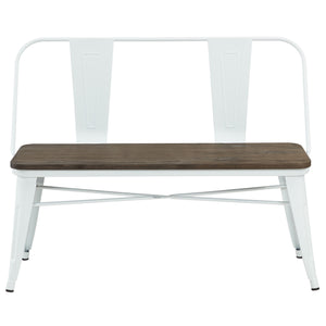 Candace & Basil Furniture |  Double Bench - White