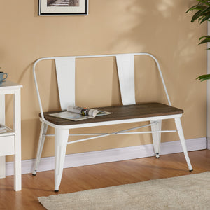 Double Bench - White