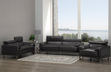 Load image into Gallery viewer, Samson Sofa Series - Charcoal Leatherette