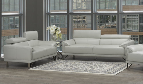 Samson Sofa Series - Light Grey Leatherette