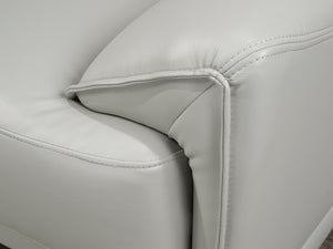 Samson Sofa Series - Off-White Leatherette