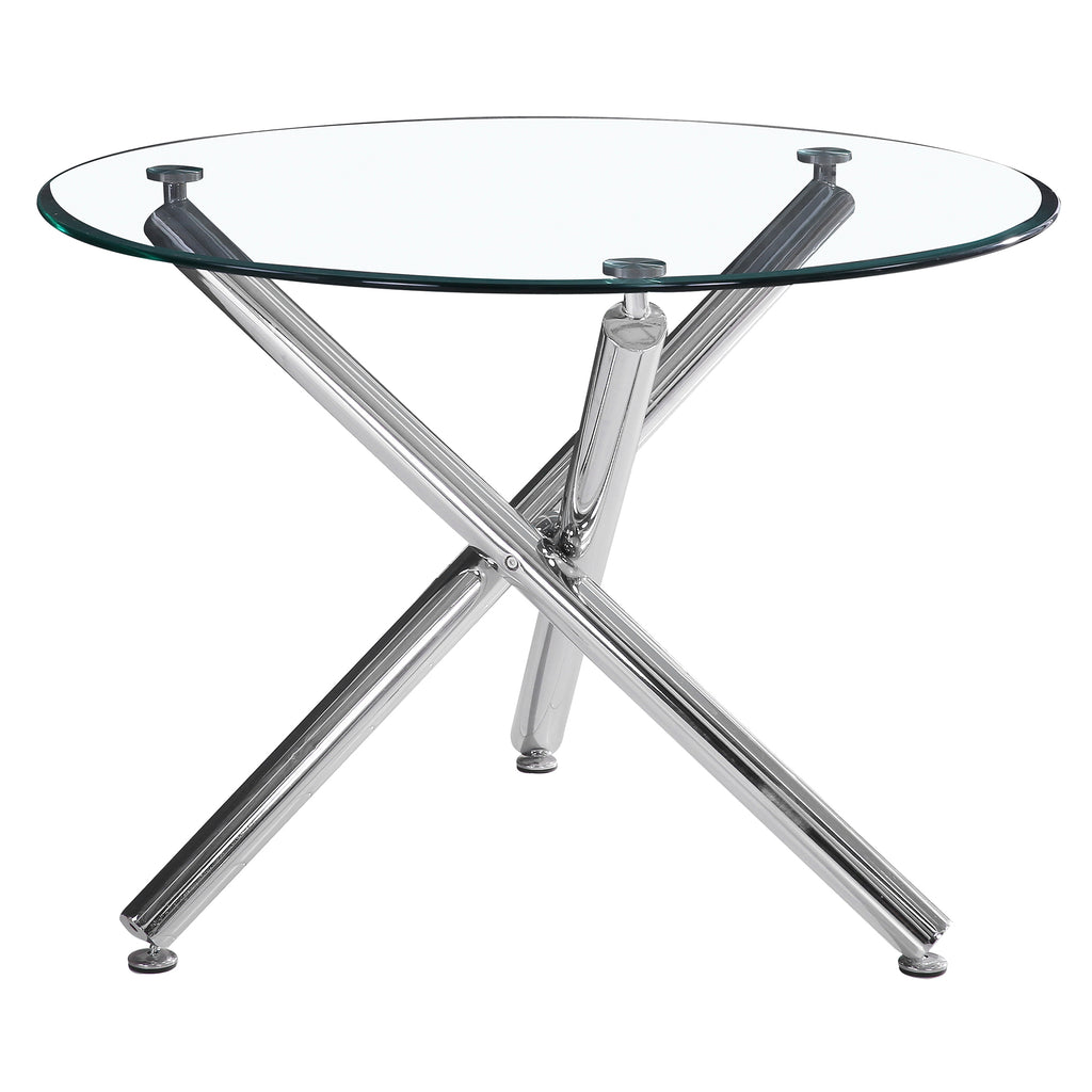 "Candace & Basil Furniture |  Dining Table 40"" Diameter - Chrome"
