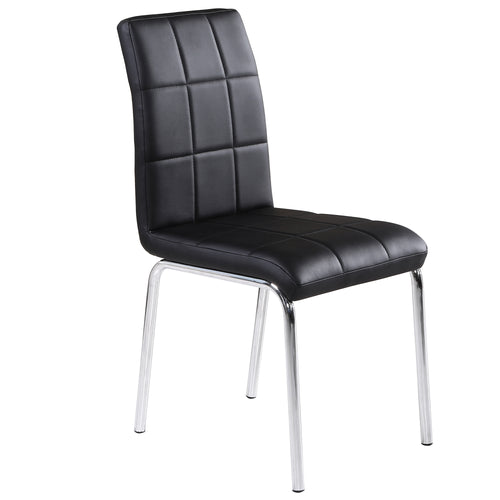 Candace & Basil Furniture |  Side Chair - Black (Set Of 4)