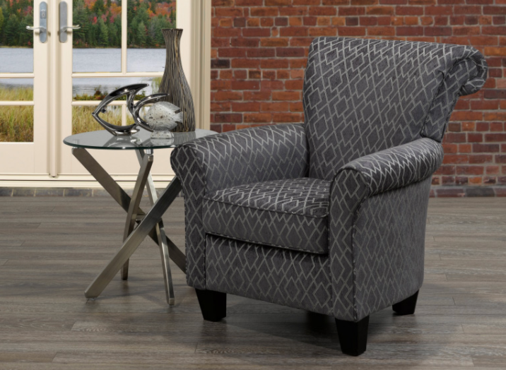 Caledon Accent Chair - Charcoal - Canadian Furniture
