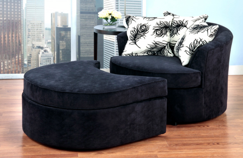 Sherbrooke Accent Chair & Ottoman - Canadian Furniture