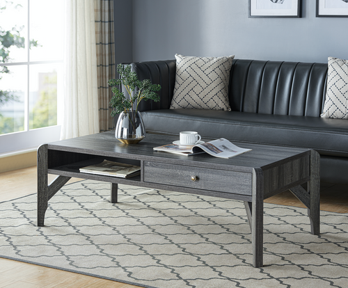 Courtenay Coffee Table w/ Storage - Grey