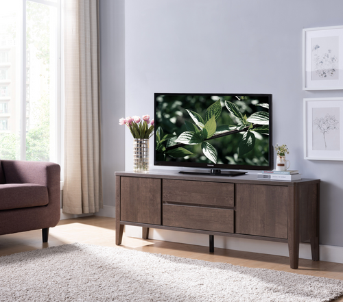 Berkeley 66'' TV Stand with Storage - Walnut Oak