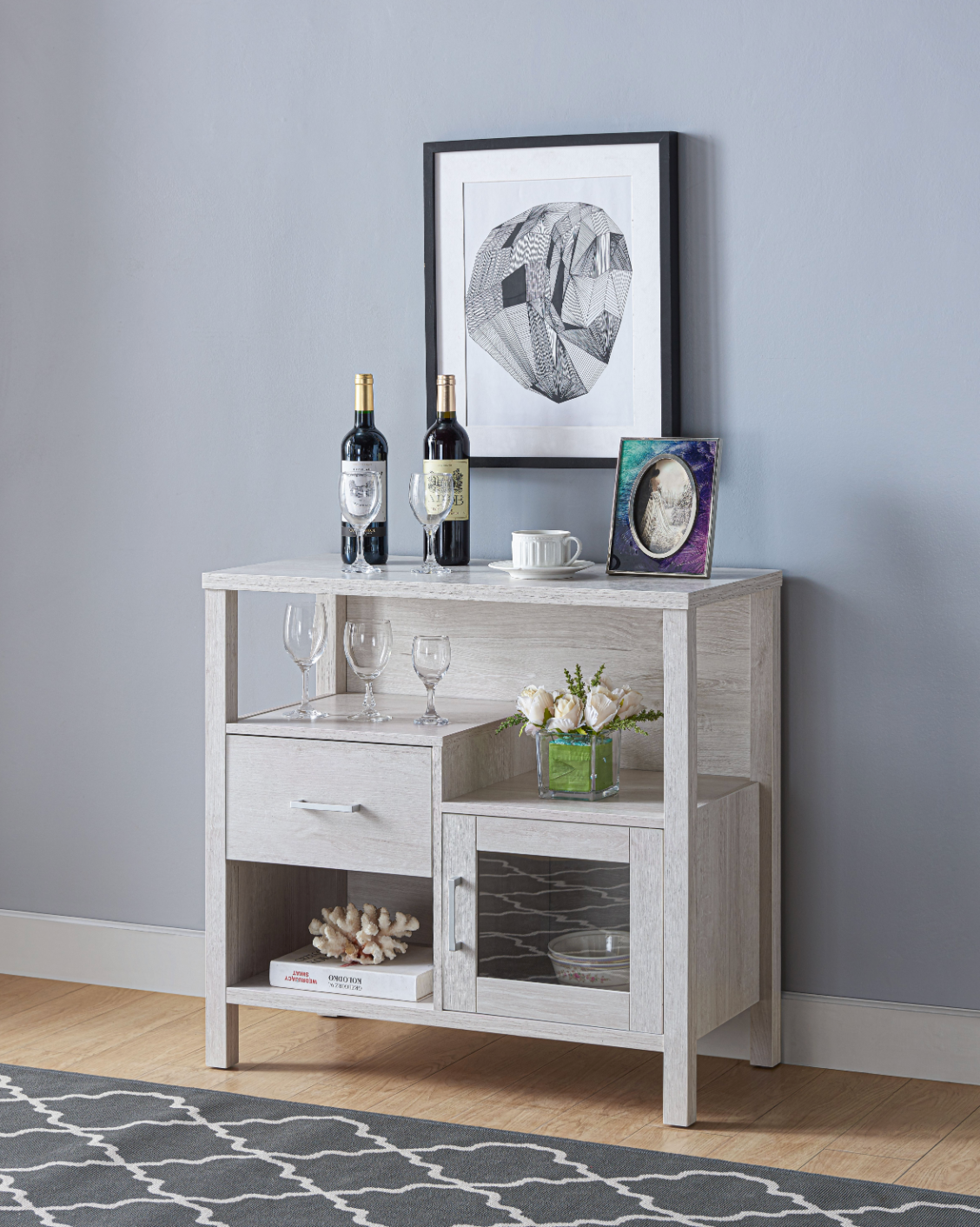 Vita Storage Cabinet - White Oak