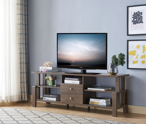 Oakwood 60'' TV Stand with Storage - Walnut Oak