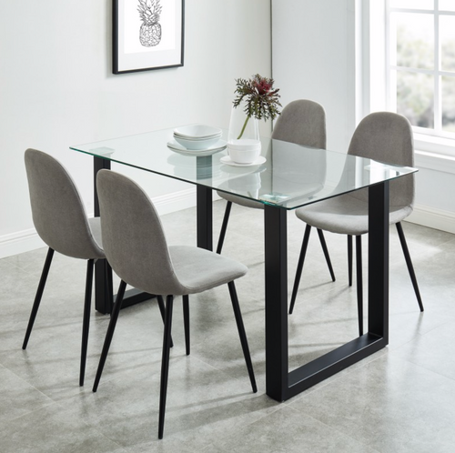 Franco Bk/Olly Gy - 5PC Dining Set