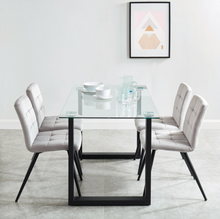 Load image into Gallery viewer, Franco Bk/Suzette Gy - 5PC Dining Set