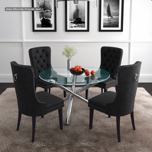 Solara Ii/Rizzo Bk - 5PC Dining Set