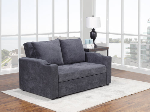 Fresno Sofa Bed - Dark Grey | Candace and Basil Furniture