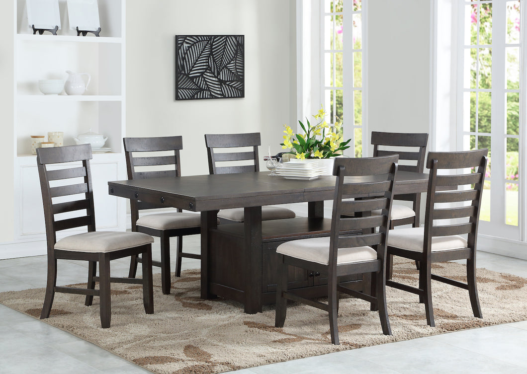 Ambassador 7PC Dining Set - Dark Espresso