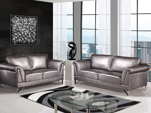 Blitz Sofa Series - Silver Leather-aire