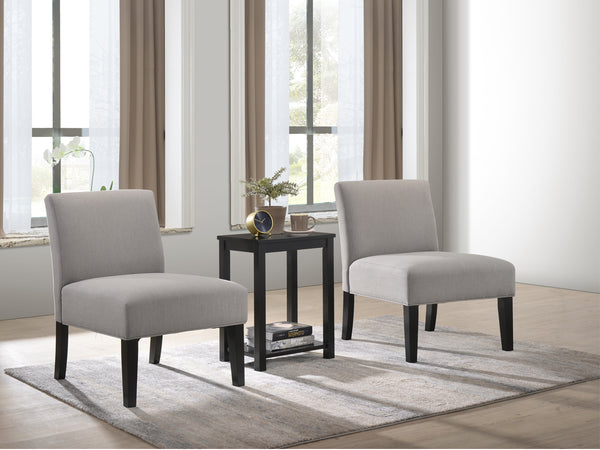 3PC Table & Chair Set (2 Chairs + 1 Table) - Grey