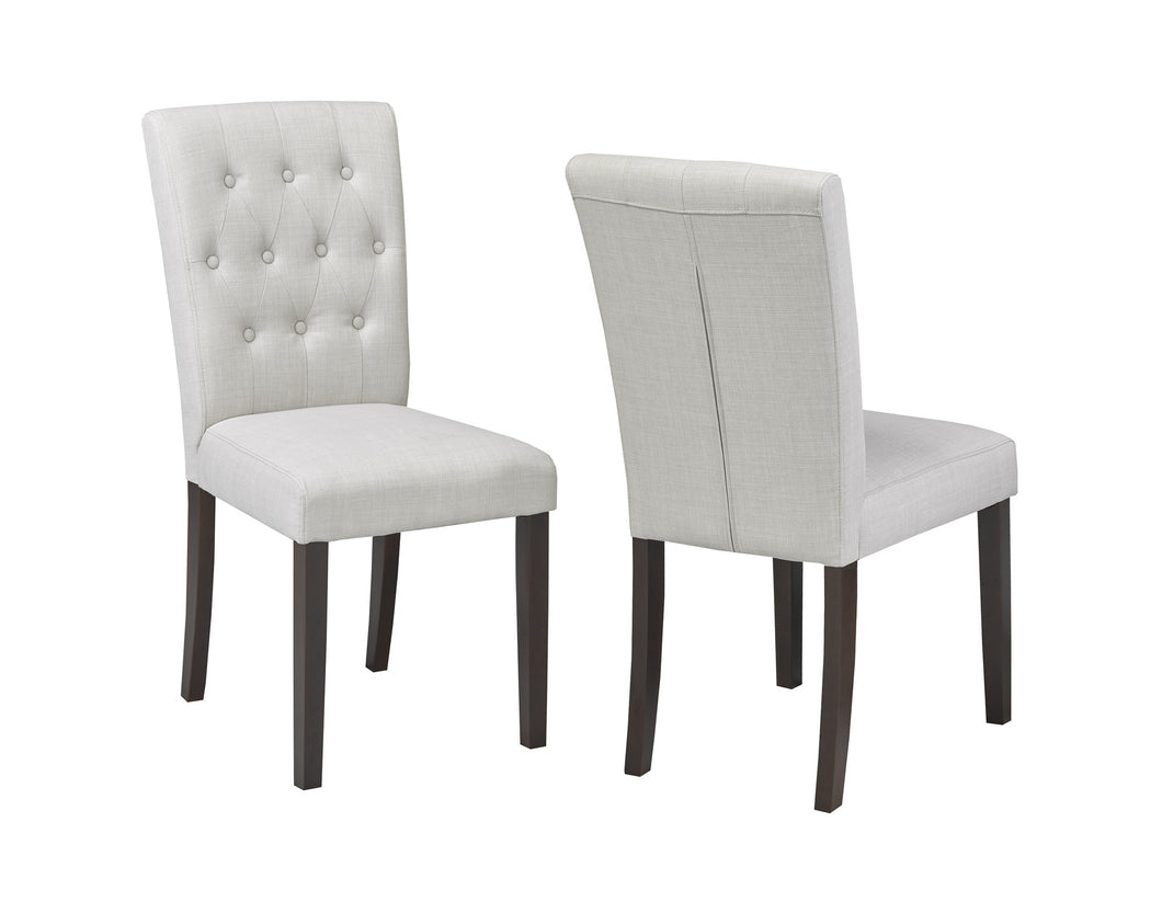 Josie Tufted Dining Chair (Set of 2) - Beige | Candace and Basil Furniture