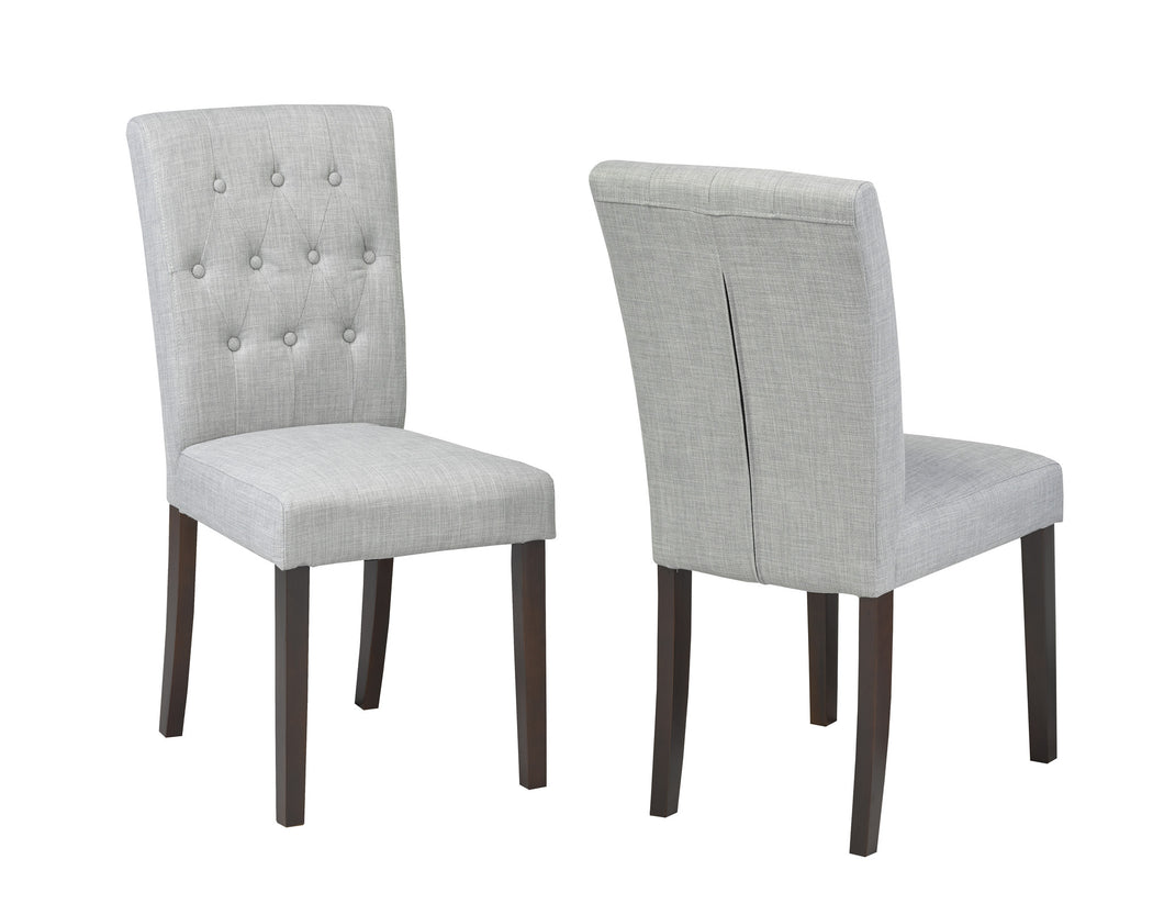 Josie Tufted Dining Chair (Set of 2) - Grey | Candace and Basil Furniture