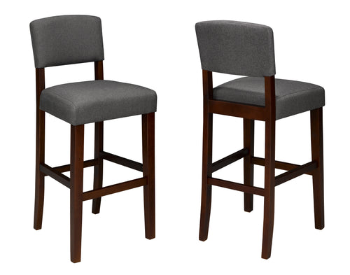 Amerreto Bar Stools (Set of 2) - Grey Fabric | Candace and Basil Furniture