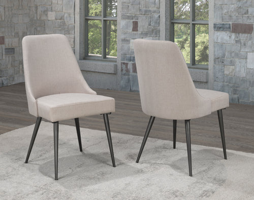 Venetian Dining Chair (Set of 2)- Beige | Candace and Basil Furniture