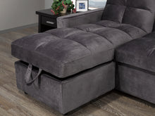 Load image into Gallery viewer, Jayden LHF/RHF Configurable Sleeper Sectional w/ Storage - Grey Velvet